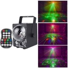 18W 60 Soorten Patroon Crystal Magic Ball Laser Lights Huishouden LED Kleurrijke Starry Sky Projection Lights Voice-geactiveerde Stage Lights  Plug Type: EU Plug (Zwart)