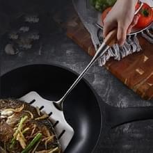 Roestvrij staal gebakken vis spatel Creatieve Lek Schop Gebakken Steak Flat Spatel  Stijl: Rosewood Handvat