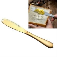 Roestvrijstalen boter Mes Western Food Bread Jam Cheese Knife (Goud)