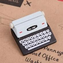 5 PC'S creatieve koffie Vintage houten Typewriter fotokaart Desk Messege memo houder stand kaarthouder (zwart)