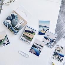 2 stuks Ukiyo-E foto zelfklevende stickers hand gemaakte albums decoratieve zeehonden