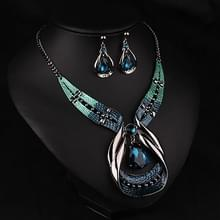 Vrouwen Fashion water drop Diamond Earrings ketting sieraden set