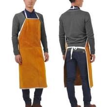 Volledige lederen elektrische lassen schort hoge temperatuur brandwerende ster splash beschermende kleding (oranje)