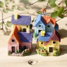 2 PCS Moss Micro Landschap Succulent Bloempot Decoratie Ornamenten Mini Brick Tile Country House DIY Model  Kleur Random Delivery
