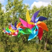 10 stuks acht-Leaf kleurrijke kunststof windmolen string tuin buiten decoratie kinderen speelgoed diameter: 20 cm