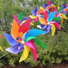 10 stuks acht-Leaf kleurrijke kunststof windmolen string tuin buiten decoratie kinderen speelgoed diameter: 28 cm