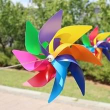 10 stuks acht-Leaf kleurrijke kunststof windmolen string tuin buiten decoratie kinderen speelgoed diameter: 38 cm