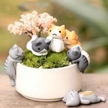 2 Sets vlezige Flower Pot Moss Micro Landscape Doll Cute Cat Decoratie Doll Cake DIY Montage Ornamenten