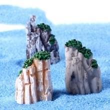 2 stuks Moss micro landschap decoratie simulatie Rockery hars decoratie  willekeurige kleur levering