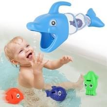 4 PCS / Set Kinderen spelen in het water Cartoon Dolphin Zwemmen Vis vissen speelgoed (Blauw)