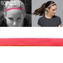 10 PCS Elastic Rope Candy Color Sports Yoga Hair Band Hoofdband Sweat Band (Fluorescerende Oranje)