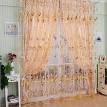 Tulip print gordijn slaapkamer woonkamer balkon Tulle zonnescherm gordijn  grootte: 100x200CM (oranje)