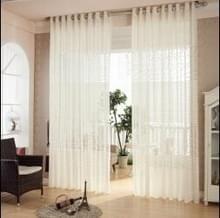 Ademende Blackout slaapkamer woonkamer gordijn balkon decoratie (wit)