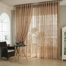 Ademende Blackout slaapkamer woonkamer gordijn balkon decoratie (licht bruin)