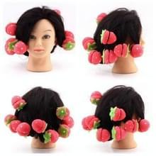 12 stuks/set cute Strawberry curler zachte spons schuim ballen mooie DIY Hair tools