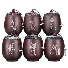 6 stuks keramische thee blikjes mini opslagtanks