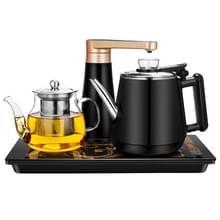 Automatische roestvrijstaal huishoudelijke pompen elektrische waterkoker thee set (zwart rubber)