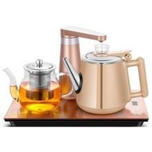 Automatische roestvrijstaal huishoudelijke pompen elektrische waterkoker thee set (goud rubber)