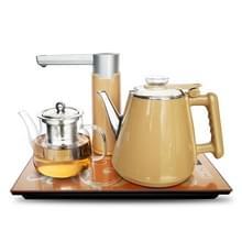Automatische roestvrijstaal huishoudelijke pompen elektrische waterkoker thee set (goud warm)