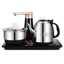 Volautomatische water elektrische ketel Home Cooking waterfles pompen elektrische thee kachel set (roestvrijstaal zwart)