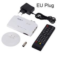 ISDB-T 1080P digitale satelliet ontvanger DVB Digitale Video TV Tuner ontvanger Sets Top Box + 5dBi antenne met afstandsbediening (wit)