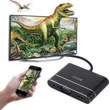 MiraScreen X6L 1080P HDMI voor 8 Pin AV HDMI/HDTV TV digitale Display kabel Adapter Converter voor iPhone 8/7/6/6S  iPad