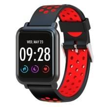 D10 1 54 inch scherm Display Bluetooth Smart Watch  steun stappenteller / hartslag monitor / slapen Monitor / sedentaire herinnering  compatibel met Android en iOS Phones(Red)