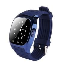 M26 Slimme horloge met stappenteller & slapen Monitor & Calculator & Call herinnering & SMS / Wechat waarschuwingen & klokdisplay & synchrone muziek spelen oproep antwoord & Stopwatch & Alarm & externe camerafunctie (donkerblauw)
