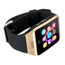 Q18S 1 54 inch IPS scherm MTK6260A Bluetooth 3.0 Smart Watch Phone  stappenteller / sedentaire herinnering / slapen Monitor / Anti-verlies / Remote Camera / GSM / 0 3 M Camera (zwart + goud)