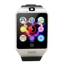 Q18S 1 54 inch IPS scherm MTK6260A Bluetooth 3.0 Smart Watch Phone  stappenteller / sedentaire herinnering / slapen Monitor / Anti-verlies / Remote Camera / GSM / 0 3 M Camera (zwart + zilver)