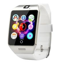 Q18S 1 54 inch IPS scherm MTK6260A Bluetooth 3.0 Smart Watch Phone  stappenteller / sedentaire herinnering / slapen Monitor / Anti-verlies / Remote Camera / GSM / 0 3 M Camera (White + zilver)
