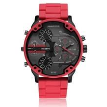 CAGARNY 6830 mode waterdichte quartz horloge met TPE armband (rood)