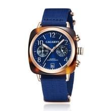 CAGARNY 6883 mode waterdichte polychromatische metalen shell quartz horloge met canvas armband