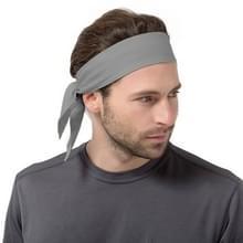 Unisex Sweat Wicking rekbare oefening Yoga Gym Bandana hoofdband zweetband hoofd stropdas sjaal Wrap  grootte: 1.2 * 0.06 m (grijs)