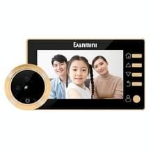 Danmini Q10 4.3 Inch Screen Motion Detection Camera Video Alarm Smart Digital Door Viewer  Support TF Card(Gold)
