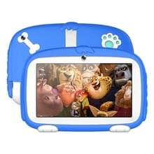 A718 Kids onderwijs Tablet PC  7 0 inch  1GB + 16GB  Android 6 0 Allwinner A33 Quad Core 1.3 GHz  ondersteuning WiFi/TF-kaart/G-sensor  met hond patroon silicone case (blauw)