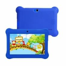 Q88 Kids Education Tablet PC  7.0 inch  1GB+8GB  Android 4.4 Allwinner A33 Quad Core  WiFi  Bluetooth  OTG  FM  Dual Camera  met Siliconen case (Blauw)