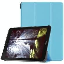 Custer textuur horizontaal flip PU lederen draagtas voor Acer legt Tab 10  met drie-vouwen houder (blauw)
