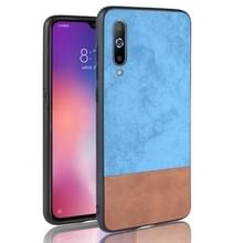 Schokbestendige kleur matching denim PC + PU + TPU Case voor Xiaomi mi 9 (blauw)