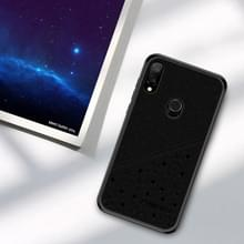 PINWUYO volledige waterdichte schokbestendige PC + TPU + PU Case voor de Xiaomi Redmi Note 7 (zwart)