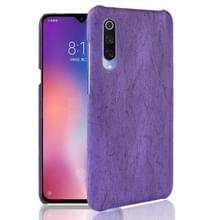 Hout textuur PC + PU Protevtive Case voor Xiaomi mi 9 (paars)