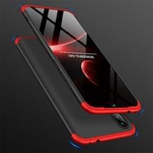 GKK drie fase splicing volledige dekking PC Case voor Xiaomi Redmi Note 7 (zwart rood)