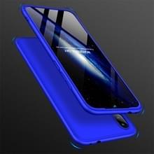 GKK drie fase splicing volledige dekking PC Case voor Xiaomi Redmi Note 7 (blauw)