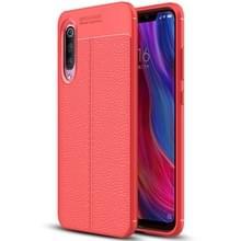 Litchi textuur TPU beschermende case voor Xiaomi mi 9 (rood)