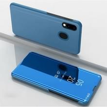 Galvaniseren spiegel horizontale Flip lederen draagtas voor Xiaomi mi 9SE  met houder (hemelsblauw)