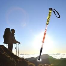 135cm draagbare hoogte verstelbaar buiten aluminium Trekking Poles(Orange)