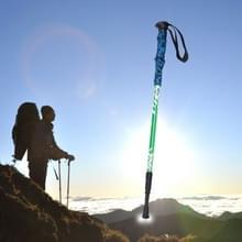 135cm draagbare hoogte verstelbaar buiten aluminium Trekking Poles(Green)