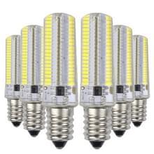 YWXLight 6PCS E12 7W AC 220-240V 152LEDs SMD 3014 energie besparende LED siliconen Lamp (koud wit)