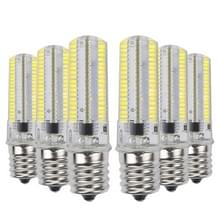 YWXLight 6PCS E17 7W AC 110-130 152LEDs SMD 3014 energie besparende LED siliconen Lamp (koud wit)