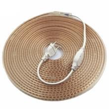 YWXLight LED NEON Flex waterdichte EU plug 5M 600LED 5730 SMD 72 Watt witte DIP LED NEON lint AC 220-240V (warm wit)
